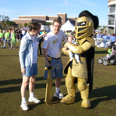 Knightro with James